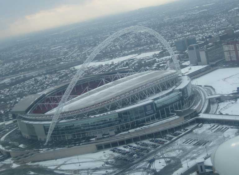 Wembley Stadium, London - Taken from an SFC aerial photography charter flight..